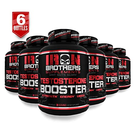 Testosterone Booster for Men – Estrogen Blocker – Supplement Natural Energy, Strength Stamina – Lean Muscle Growth – Promotes Fat Loss – Increase Male Performance 6 Bottles