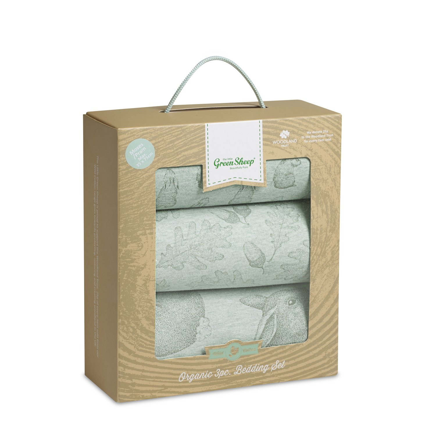 The Little Green Sheep Wild Cotton Organic Bedding Set (Rabbit) BD014B