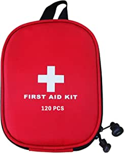 AUSELECT First Aid Kit 120pcs for Hiking, Backpacking, Camping, Travel, Car & Cycling with Waterproof Laminate Bags You Protect Your Supplies! Be Prepared for All Outdoor Adventures or at Home & Work