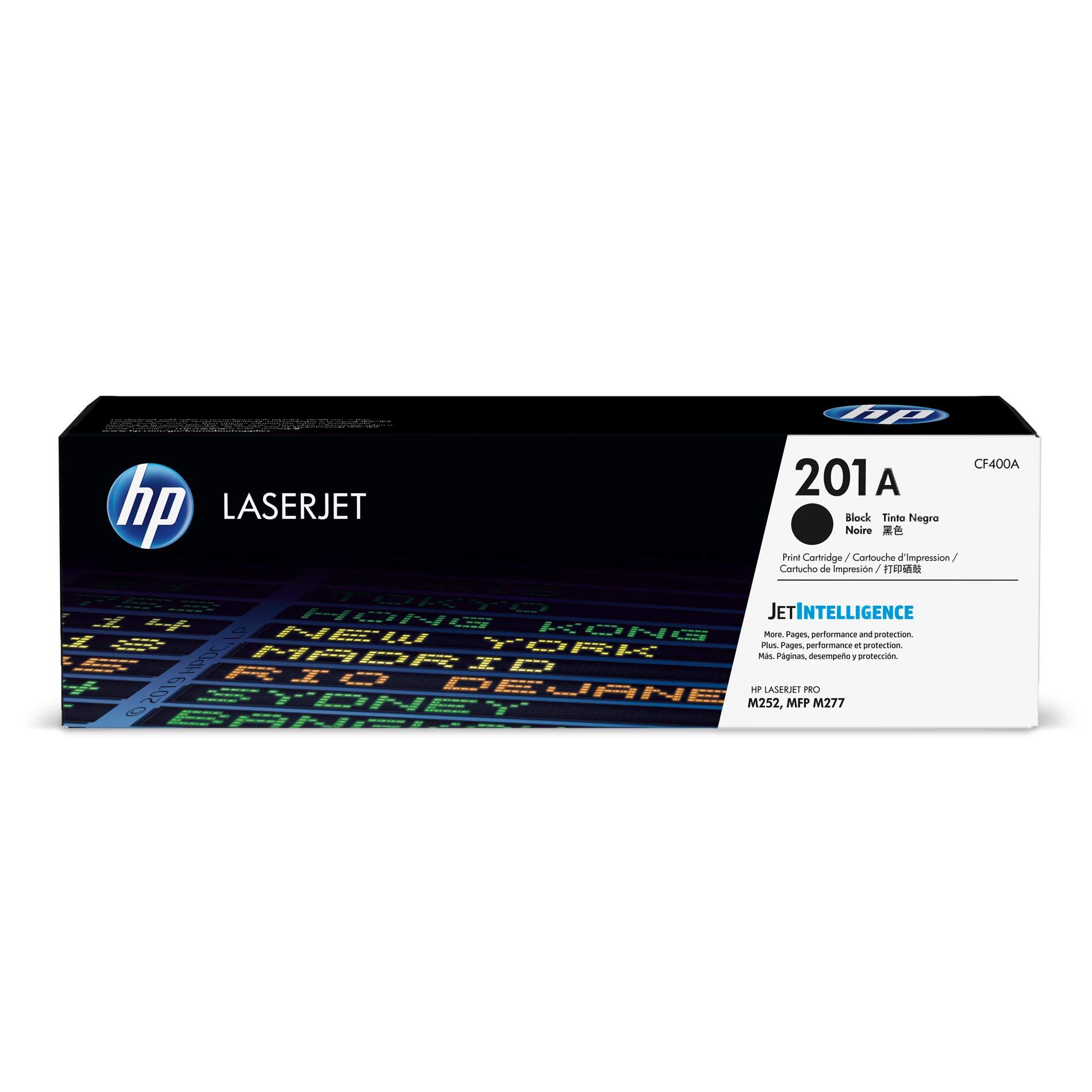HP 201A | CF400A | Toner Cartridge | Works with HP Color Laserjet Pro M252dw, M277 Series | Black