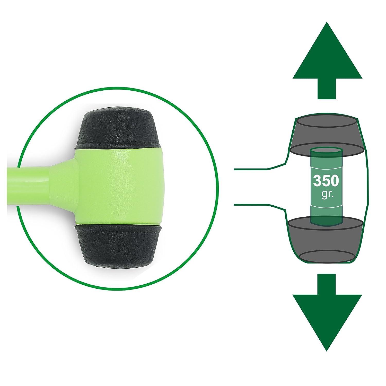 Verde Lima Moscatelli Martillo de c/ámping con Extractor de piquetas