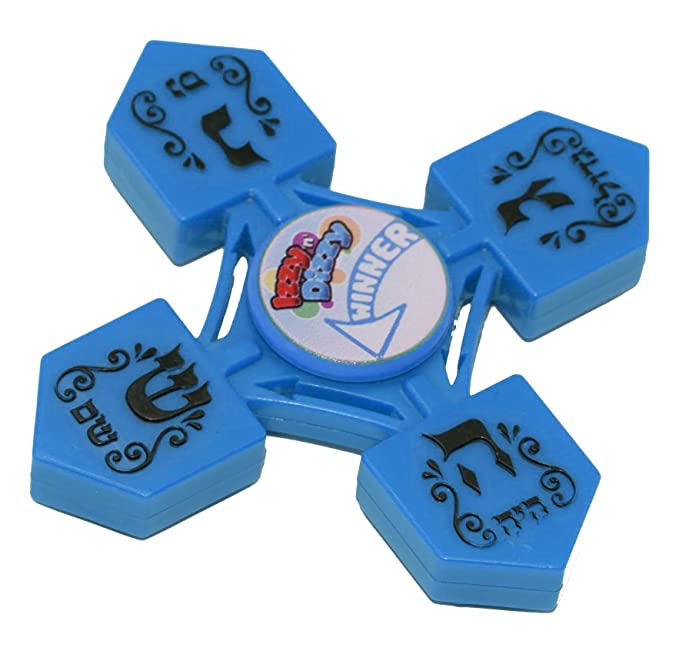 Dreidel Spinners - Draidel Spinning Wheel in Solid Colors - Hanukah Toys, Games - Assorted Colors - by Izzy 'n' Dizzy