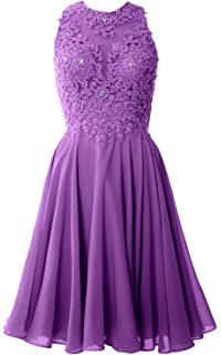 c9c60c1a7ee MACloth Women High Neck Lace Cocktail Dress Short Prom Homecoming Formal  Gown