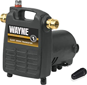 Wayne Cast Iron Portable Transfer Water Pump - 1,450 GPH, 1/2 HP, 3/4in. Model Number PC4