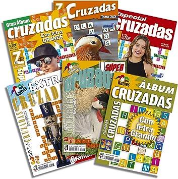 DataPrice Pack de 6 Libros de Pasatiempos Cruzadas. Cruzadas para Adultos variadas. - Ed. Zugarto -.: Amazon.es: Juguetes y juegos
