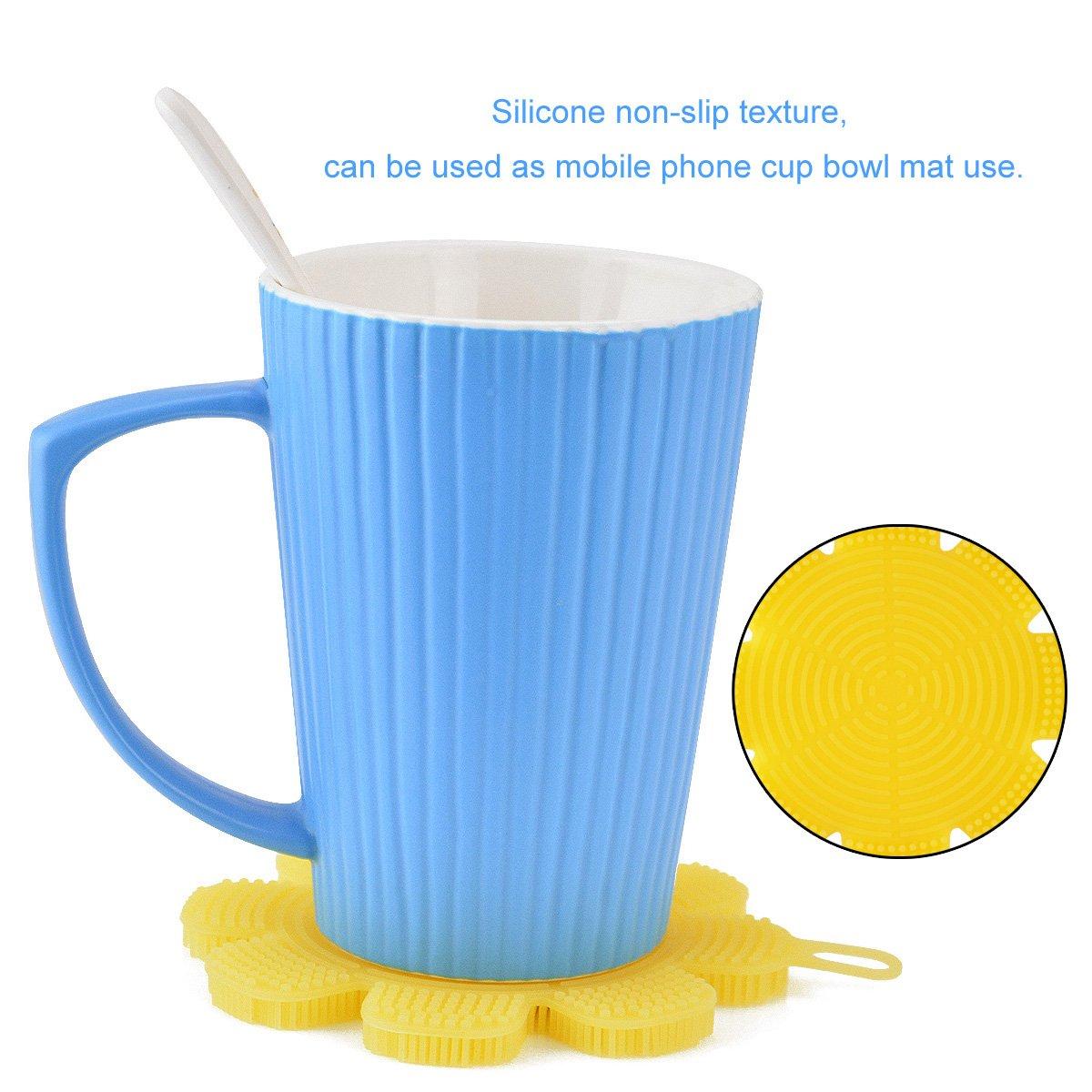 Éponge Silicone Brosse Anti-bactérienne Non Stick Brosse Éponge de Cuisine Nettoyeur de Légumes aux Fruits pour Cuisine Vaisselle à laver Nettoyage