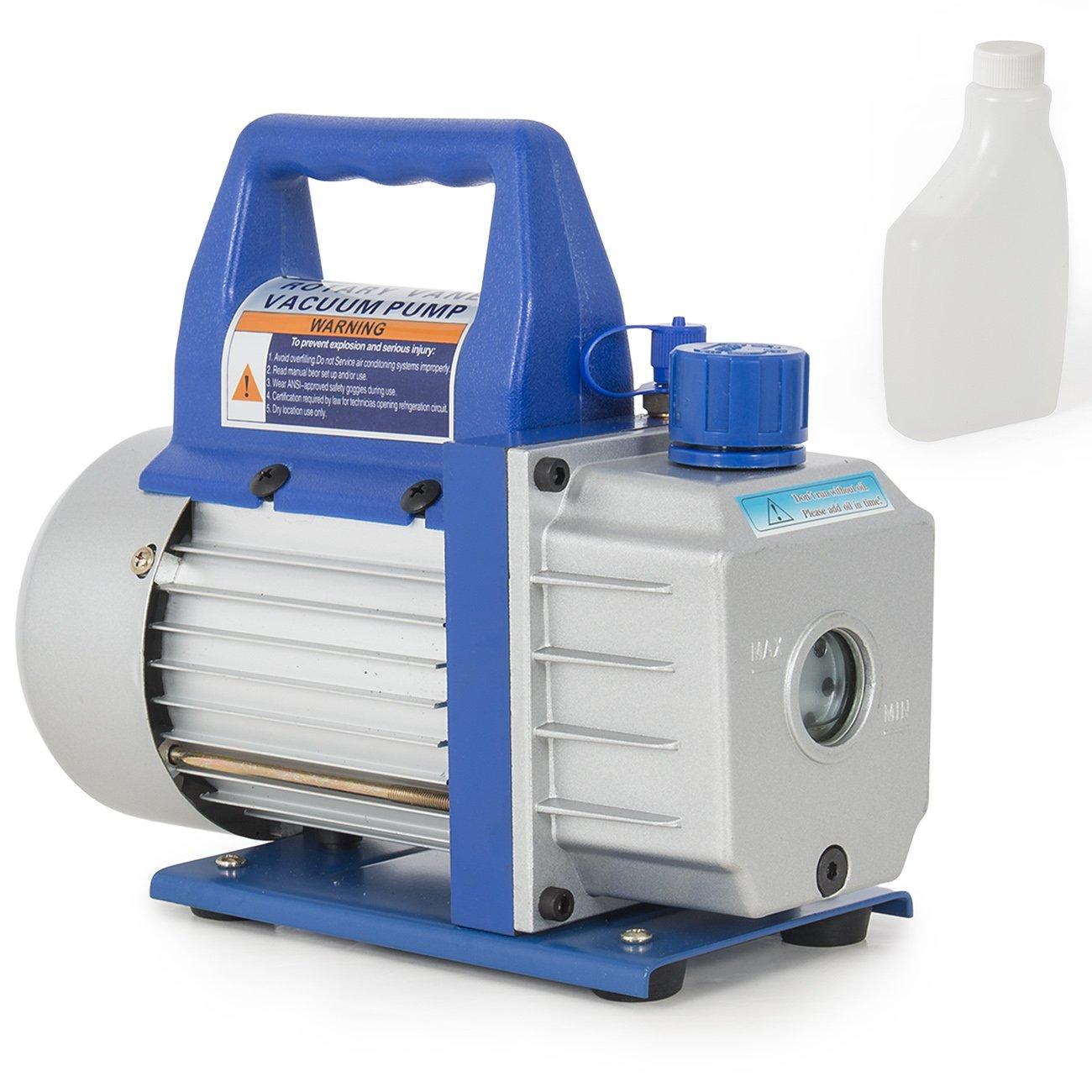 Amazon ARKSEN Rotary Vane Deep Vacuum Pump 1 3 HP 3CFM Air Conditioner Refrigerant HVAC 4 Flare Inlet Port Automotive