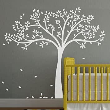 MairGwall Fall Tree Wall Decal Monochromatic Tree Decal Baby Nursery Wall  Decor 78H X 87u0026quot