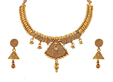 3af553bb9a Buy BFC- Stylish New Designer Long Copper Necklace Set with Earrings ...