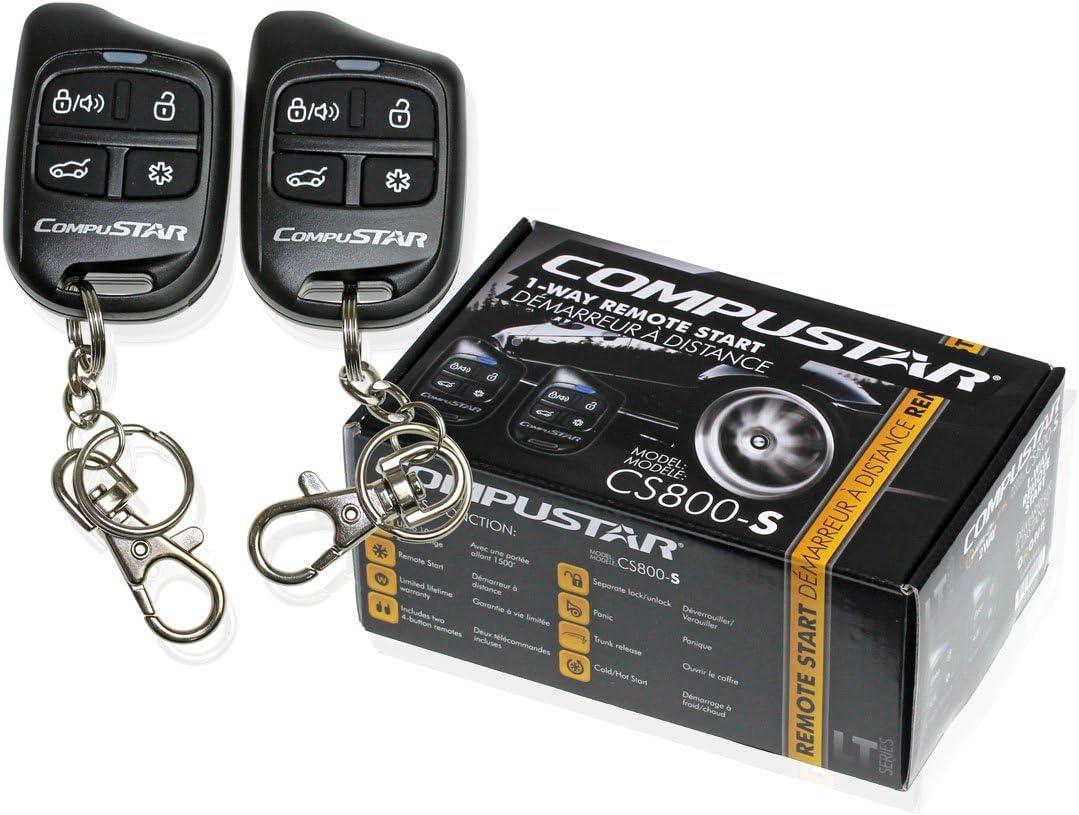 Compustar Cs800 S 1 Way Remote Start With 2 4 Button Remotes 1000 Feet Range Cs800s Cs800 Amazon Ca Cell Phones Accessories