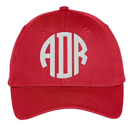 6105d1b6 Amazon.com: Custom Monogram Baseball Cap, Embroidered Personalized Hat with  Initials, Color Choices!: Handmade