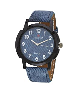 Evelyn Analogue Blue Dial Men's Watch