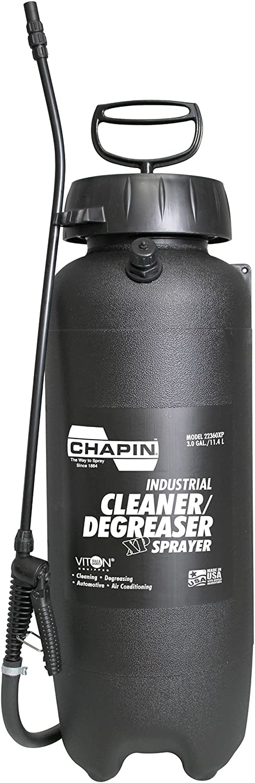 Chapin 22360XP 3-Gallon Industrial Viton Cleaner Degreaser Sprayer, Yellow/Black