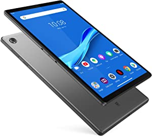 "Lenovo Tab M10 Plus Tablet, 10.3"" FHD Android Tablet, Octa-Core Processor, 128GB Storage, 4GB RAM, Dual Speakers, Kid Mode, Face Unlock, Android 9 Pie, ZA5T0300US, Iron Grey"