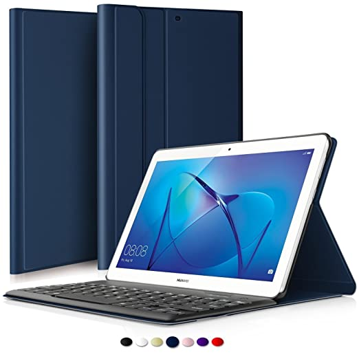 2 opinioni per IVSO Huawei MediaPad T3 10 QWERTY Bluetooth Tastiera Portfolio- DETACHABLE