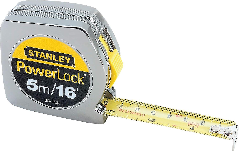 Stanley 33 158 5m 16 x 3 4 Inch PowerLock Tape Rule