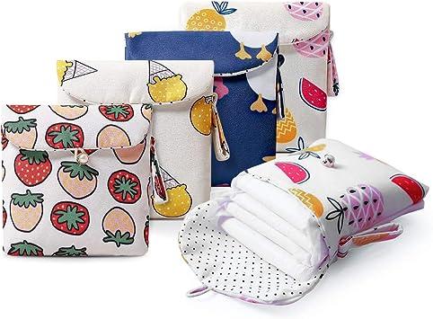 Bolsa de Almacenamiento para Servilletas Sanitarias,Bolsa Menstrual,Impermeable Reutilizables Bolsa para Copa Menstrual Menstruación Femenina Bolsas ...