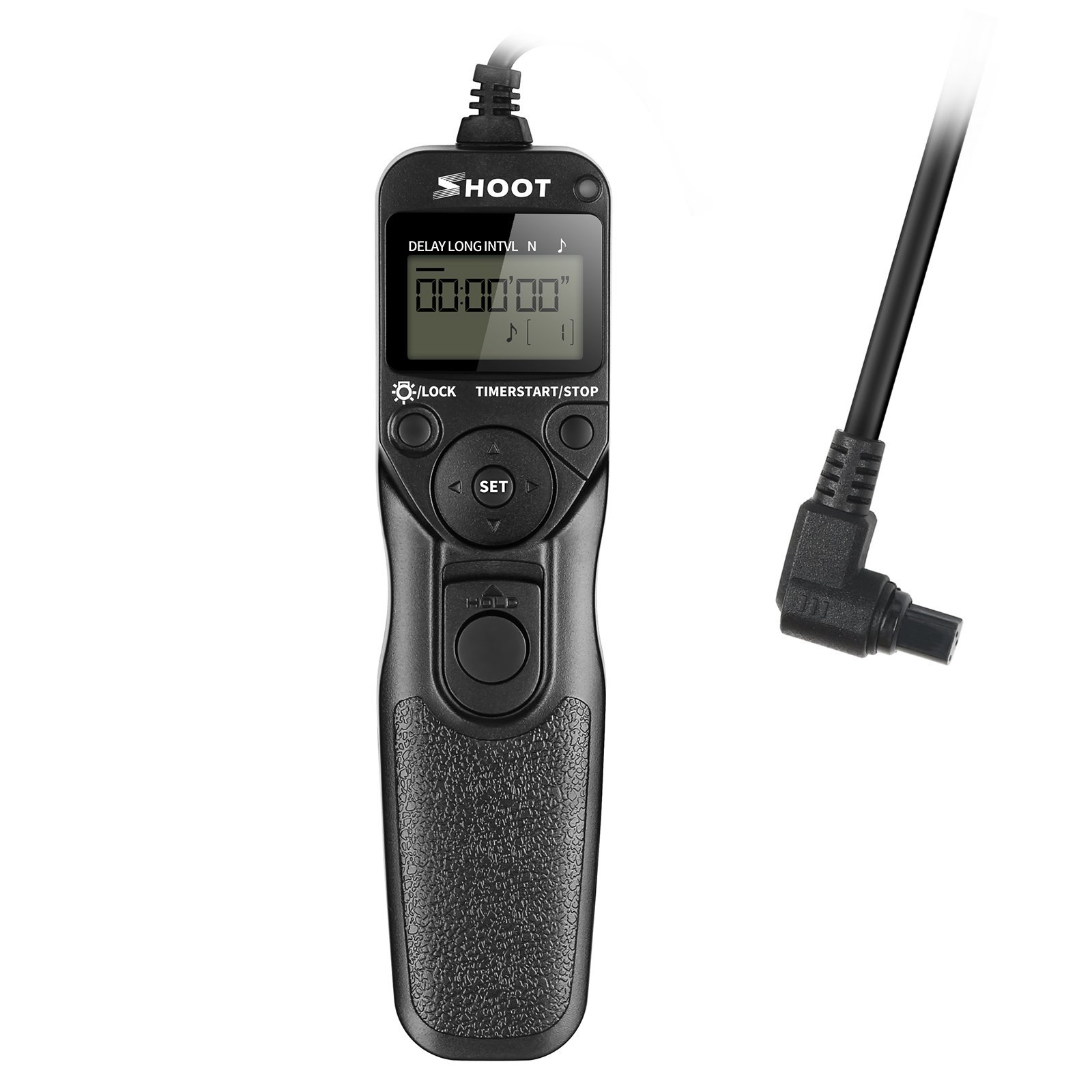 SHOOT RS-80N3 LCD Timer Remote Controller Shutter Release Cord Trigger for Canon EOS 5D 6D 7D 10D 20D 30D 40D 50D D30 D60 EOS 5D Mark II 5D Mark III EOS 1D 1D Mark II 1D Mark II N 1D Mark III 1Ds 1Ds