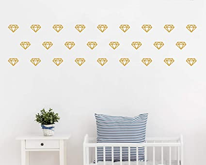 Amazon.com: Diamond Wall Decals,Wall Art, Geometric Decor,Vinyl Wall ...