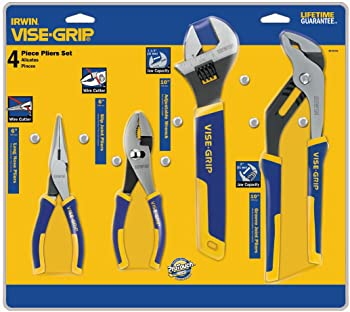 Irwin Vise-Grip 4-Piece Traditional Plier Set