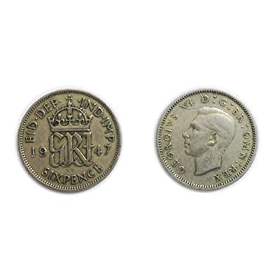 Coins for Collectors - Circulated British 1947 George VI Sixpence / Six Pence 6p Coin / Great Britain: Toys & Games