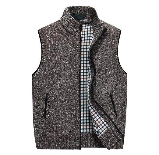 gkkxue maglione cardigan con cappuccio imbottito da uomo più