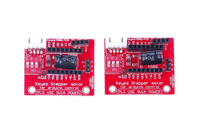 ARCELI 2Pcs 3D Imprimante Moteur Pas /à Pas Pilote Contr/ôle Extension Bouclier Conseil pour A4988 DRV8825