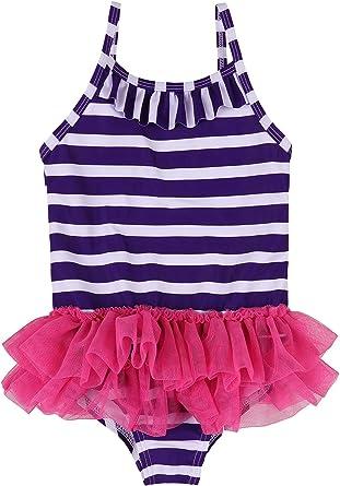 Toddler Baby Girl Ruffle One Piece Bathing Swimsuit Swimwear Kids Dot Bowknot Strap
