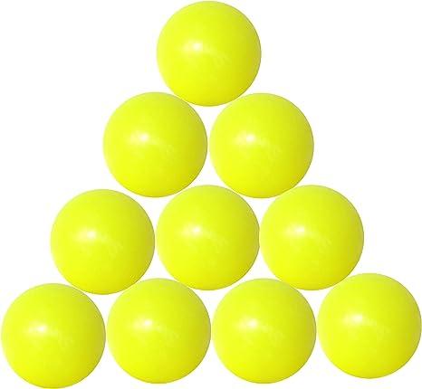 FAS 10 Bolas futbolín Amarillas gal19gis con Bolsa de plástico: Amazon.es: Deportes y aire libre