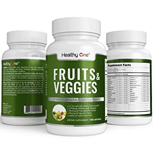 All-Natural Fruits and Veggies Supplement - 27 All-Natural Fruit and Vegetable Extracts | Get Your Daily Dose of Superfoods | 150 Capsules