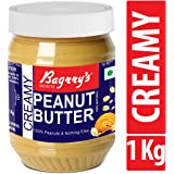 Bagrry's Natural Peanut Butter, Creamy, 1 KG, Unsweetened