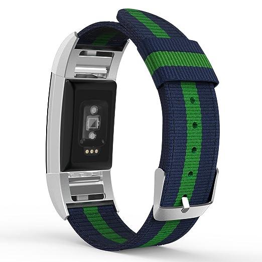 9 opinioni per MoKo Fitbit Charge 2 Cinturino, Morbido Braccialetto Regolabile in Nylon +