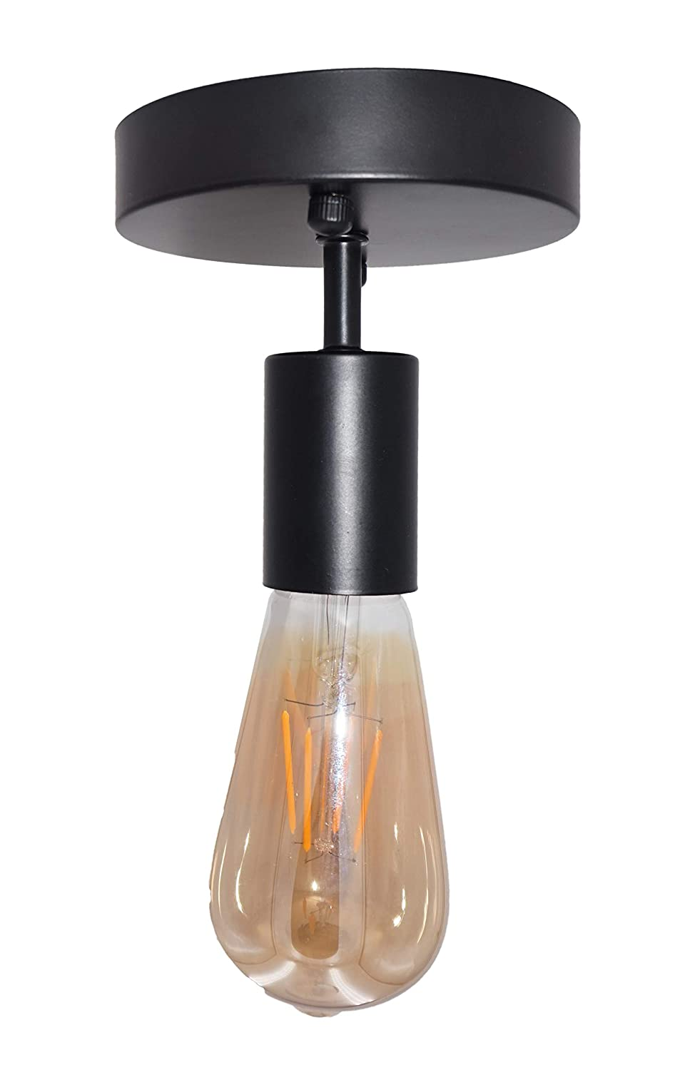 BRIGHTESS W6969 Industrial Metal Cage Ceiling Light American Retro Manipulator E26 Base Fixtures with Country Hallway Coffee Shop Office Bedroom BS