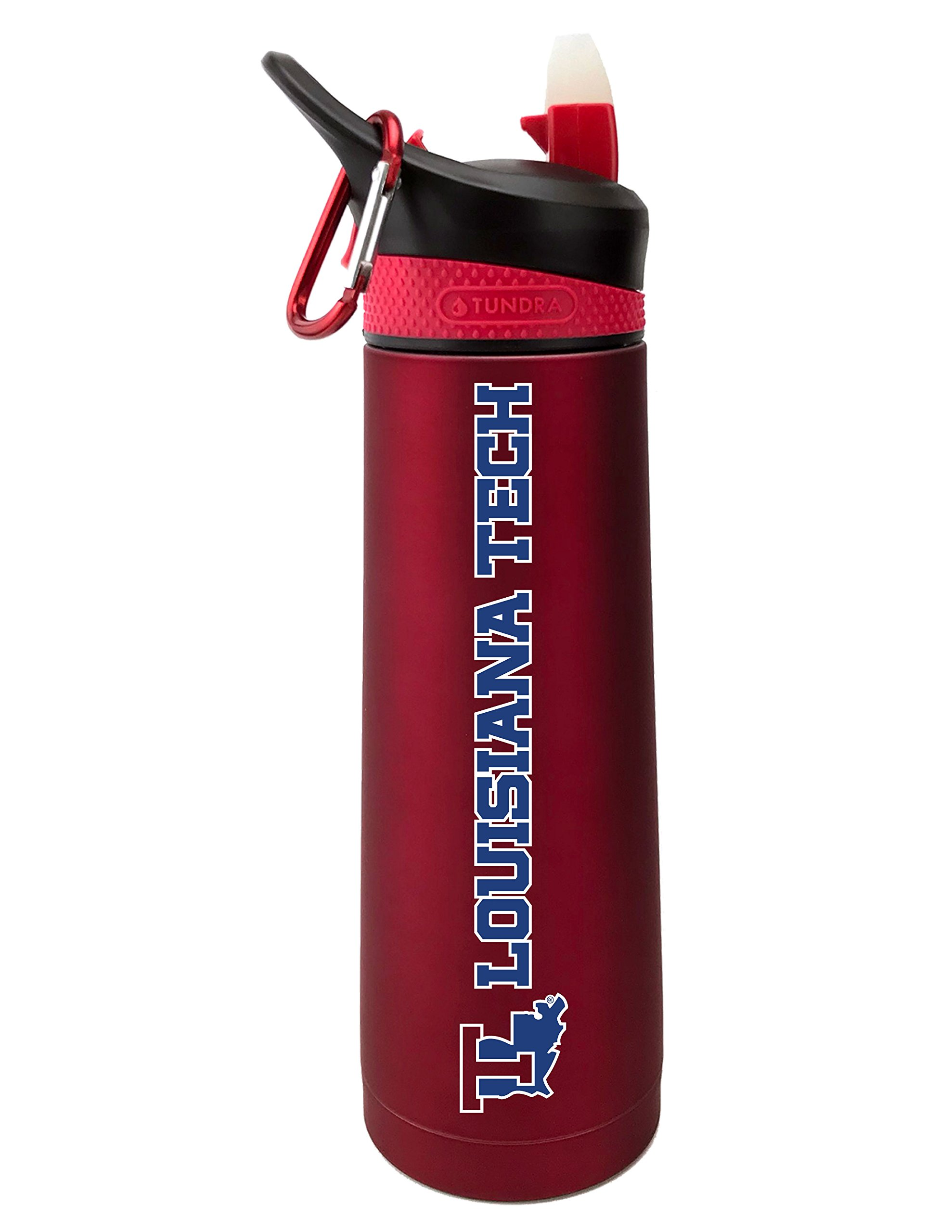 Fanatic Group Louisiana Tech University Dual Walled Stainless Steel Sports Bottle, Design 1 - Red
