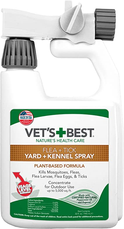 Amazon Com Vet S Best Flea And Tick Yard And Kennel Spray Yard