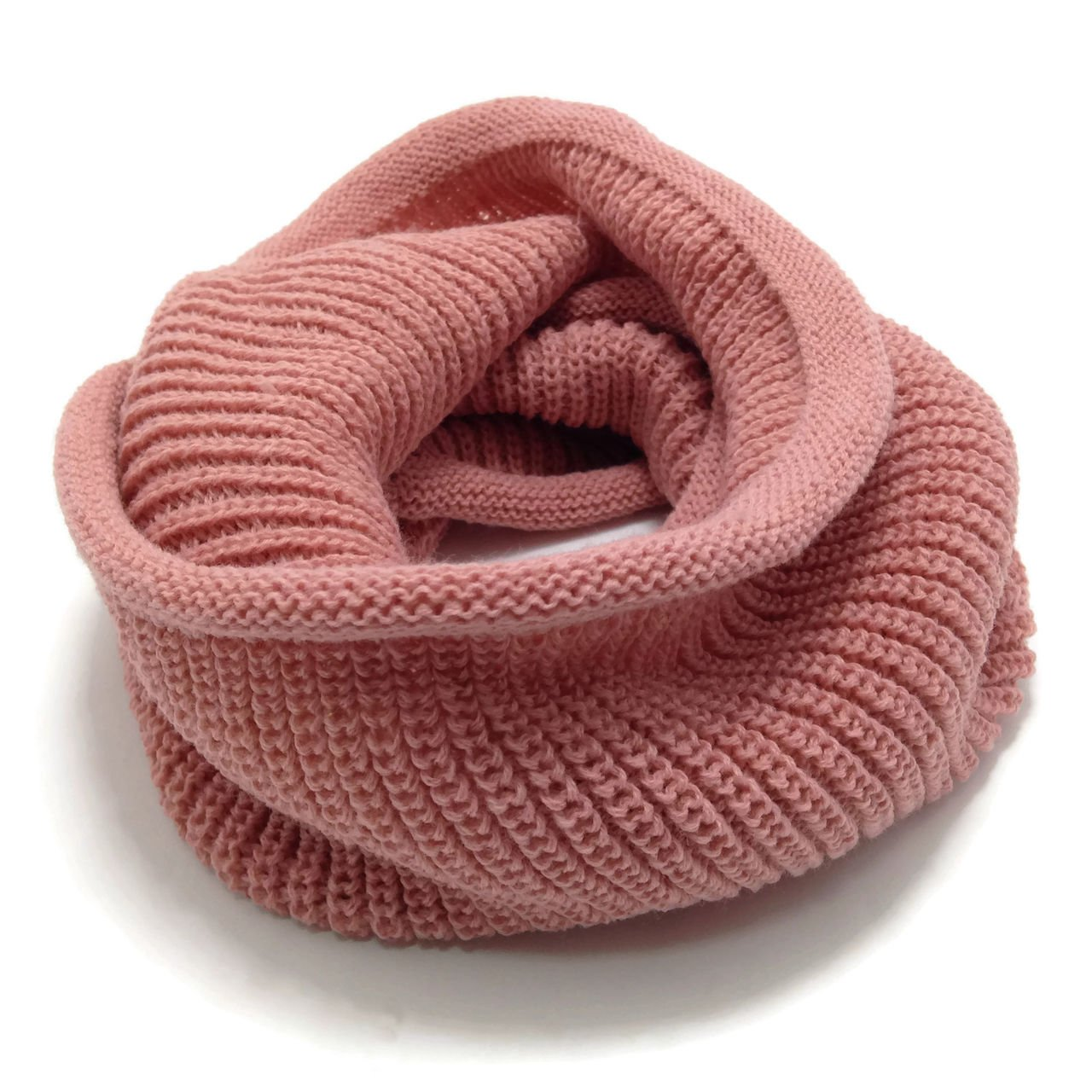 HappyTree Kids Hot Fashion Thick Knitted Winter Warm Infinity Scarf Pink