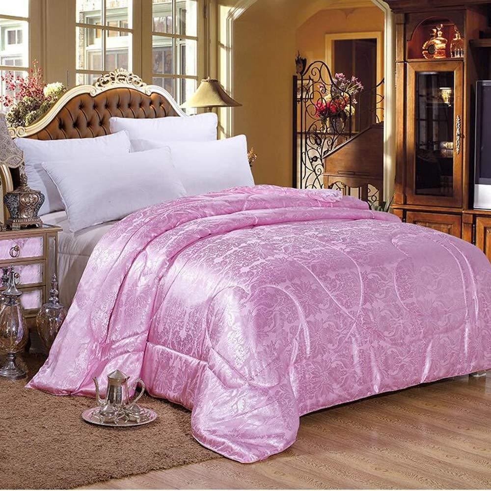 100% Reine Seidenkomövarte/Duvet/trösten natürlichen Langen Strang Reine Seide Wieder reversibel Schlaf-Temperaturanpassung,Pink,2.0×2.3m3kg