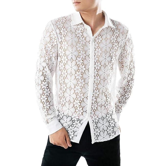 Rawdah_Camisas Hombre Camisas De Hombre Manga Larga Camisas ...