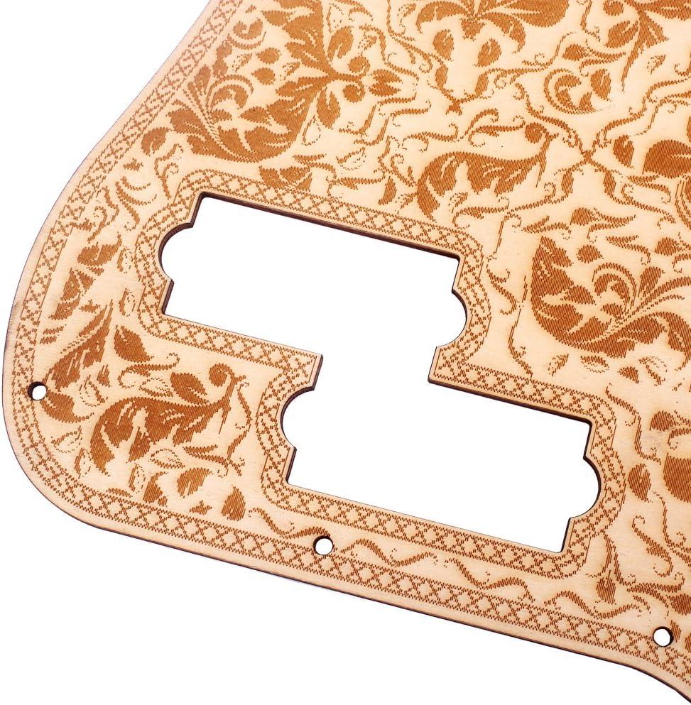 Shiwaki Protezione Della Piastra Antigraffio Per Battipenna Per Fiori Di Acero Per Chitarre PB Di Precisione