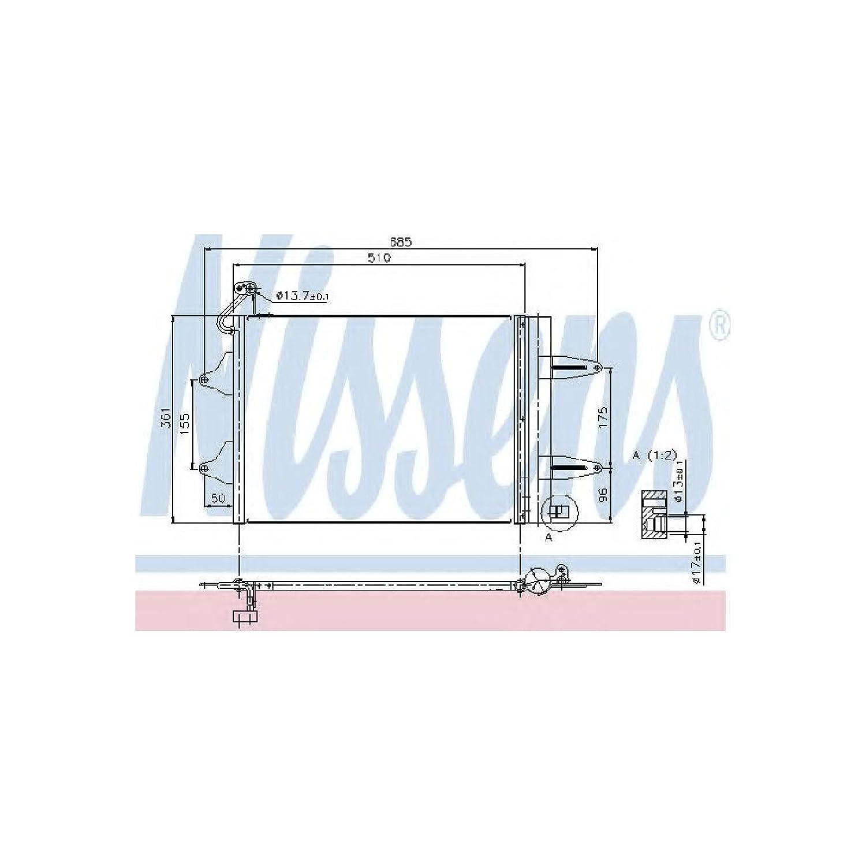 Nissens 94628 Condenser, air conditioning