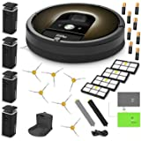 iRobot Roomba 980 Robotic Vacuum Cleaner Estate Bundle Includes 4 Dual Mode Virtual Wall Barriers (with 8 Batteries), 6 Side Brushes, 4 HEPA Filter