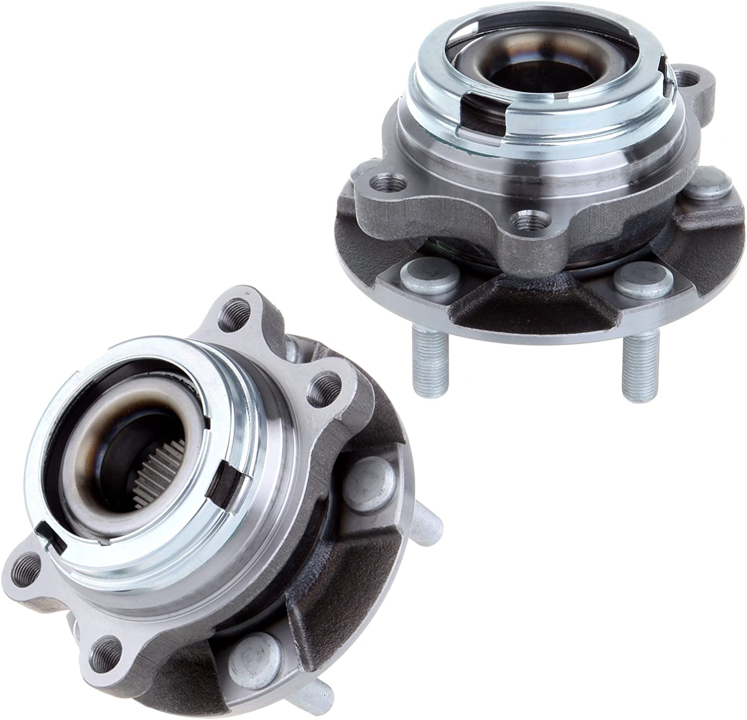 ECCPP Wheel Hub and Bearing Assembly Front 513310 fit 2003-2009 Nissan Quest Murano Replacement for 5 lugs wheel hub no ABS
