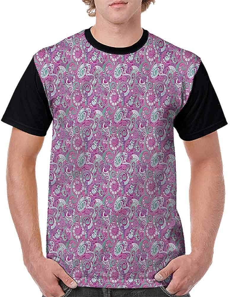 BlountDecor Performance T-Shirt,Soft Toned Stripes Marine Fashion Personality Customization