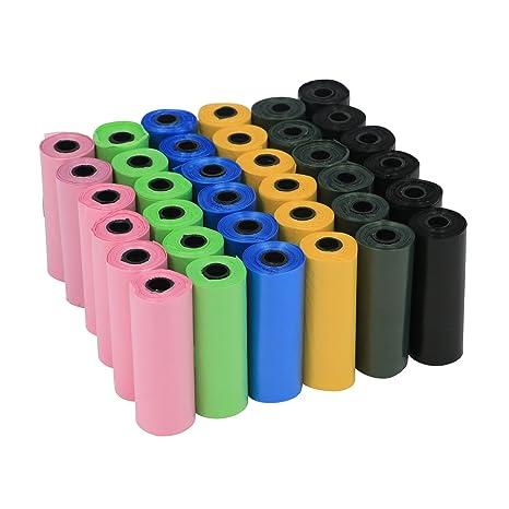 YOMMY® Bolsas para excrementos de perro 24/48/72 Rollos Total 360/720/1080 Bolsas Poop Bag para Perro Mascotas Animales Domésticos YM-0295 (720, ...