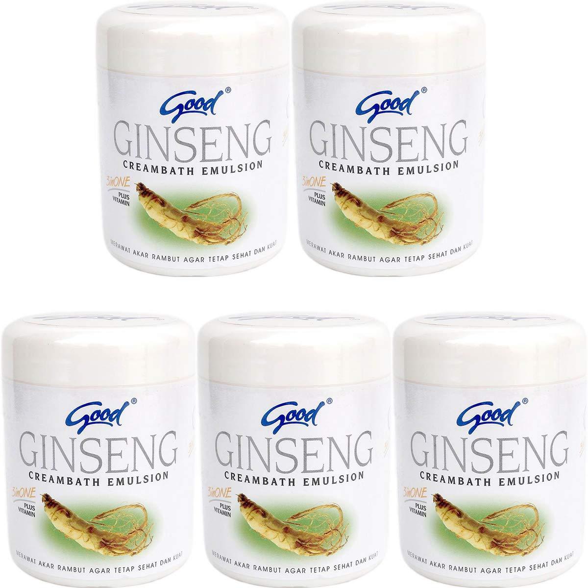 good グッド インドネシアバリ島の伝統的なヘッドスパクリーム Creambath Emulsion クリームバス エマルション 680g × 5個 Ginseng ジンセン [海外直送品] B07QWW4LJ8  Ginseng ジンセン