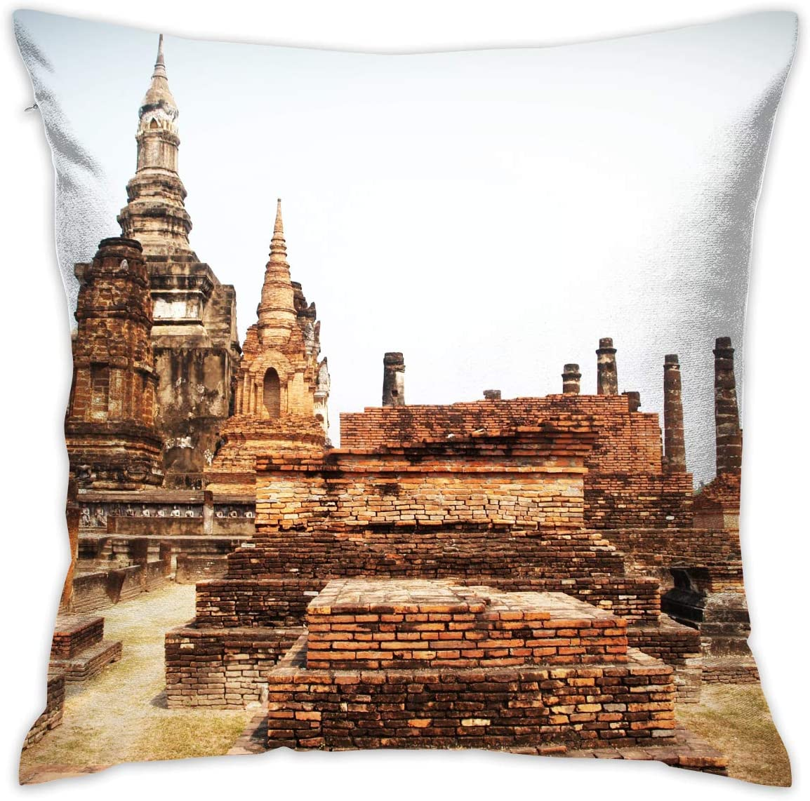 jiger Throw Pillow Cushion Cover,Angkor Wat, Cambodia,Decorative Square Accent Pillow Case, 18X 18 Inches