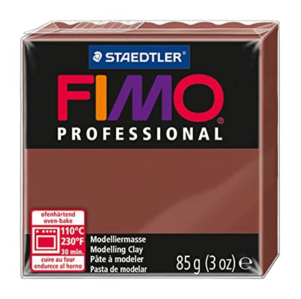 Staedtler Fimo Professional Soft Polymer Clay, 3-Ounce, Chocolate