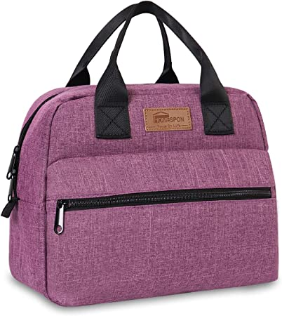 HOMESPON Bolsa Isot/érmica de Almuerzo Top-Open Lunch Bag Bolsa T/érmica Porta Alimentos Tela Impermeable Plegable Bolso de Mano para Mujeres Adultos Estudiantes y Ni/ños