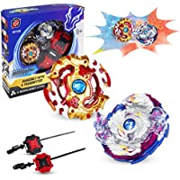 Bey Battling Top Burst, Combat Gyro Burst 4D Fusion Model, Spinning Tops x2, Power Launchers and Pull Strings x2, Best Toys Gift for Boys Kids Children