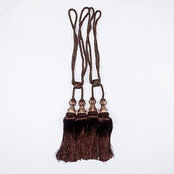 BGment - Cortina de borlas con alzapaños para Sujetar Cortinas, marrón, Tiebacks: Amazon.es: Hogar
